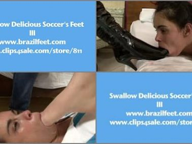 Foot gagging - BRAZIL FEET - Swallow Delicious Soccer Feet