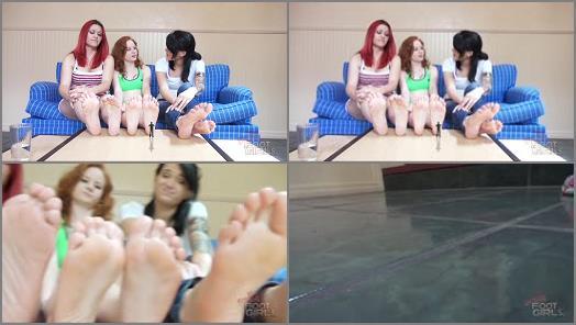 Bratty Foot Girls  Catherine Foxx Piper Mariah  Shrunken Under 6 Soles SFX preview