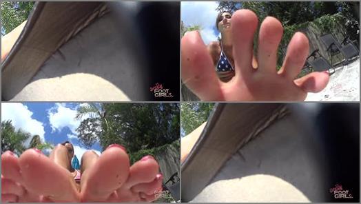 Bratty Foot Girls  Goddess Sasha Foxxx  Sashas Poolside Foot Bitch preview