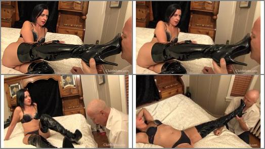 Club Stiletto FemDom  Lady Bellatrix  Shaming Hubby With My Boots preview