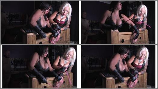 Femme Fatale Films  Beating Soles  Part 1   Mistress Real and Miss Deelight  preview