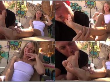Socks licking - Foot humiliation by Mistress Pristine