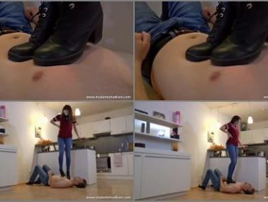 Trample slave - Madame Madison - Trampled mercilessly under boots