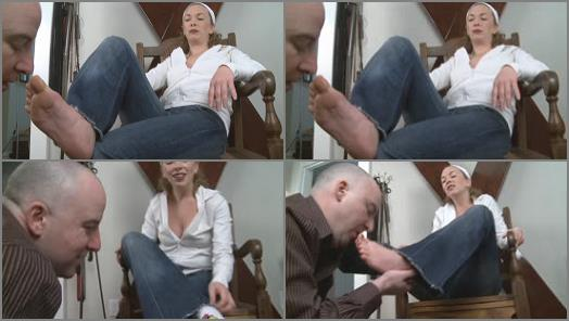 Foot slave training - Mistress T - Fetish Fuckery - Sweaty Feet Tongue Bath