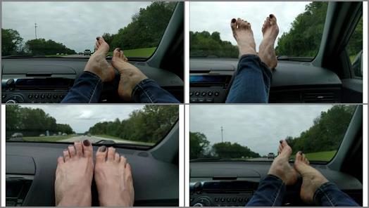 Mo Rina  mature feet on dashboard preview