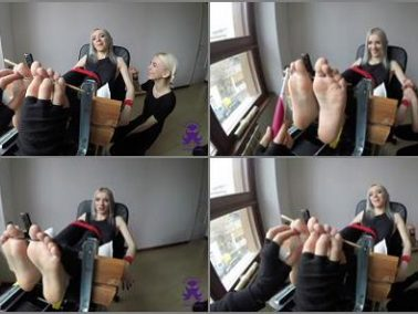 Tickling torture - Octopus - The Sister - Feet in the Stocks - First Time