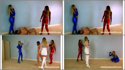 The Mean Girls  American Ballbusting   Goddess Platinum Princess Amber and Princess Sklyar  preview