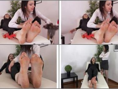 Soles tickling - Tickling And Laughing Experiences – The two spies