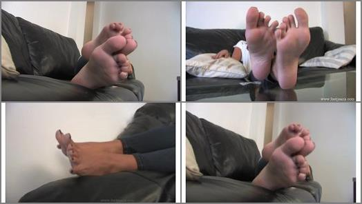 Young Woman Wiggling Her Toes preview