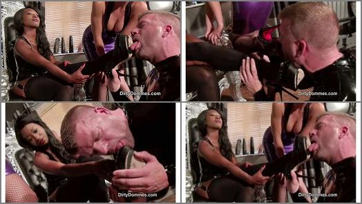 Dirty Dommes  Stiletto shoe slave training part 2  preview