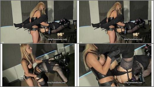 Dirty Trans Dolls  Strapon fucked by Princess Nikki part 2  preview