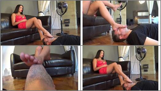 ALICE  Ground level  Forced foot worship face as a footstool preview