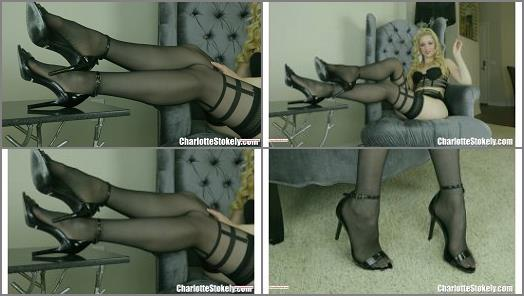 Charlotte Stokely  Black Stockings Are Ur Sure Thing preview