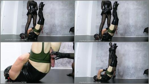 Latex Fetish -  MY SLAVE HD Femdom Videos – Hung Up to Milk You Dry