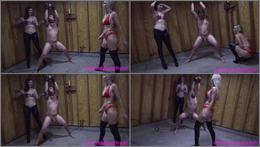 THE MEAN GIRLS  Miss Dandy Learns Ballbusting   Goddess Platinum and Miss Dandy  preview