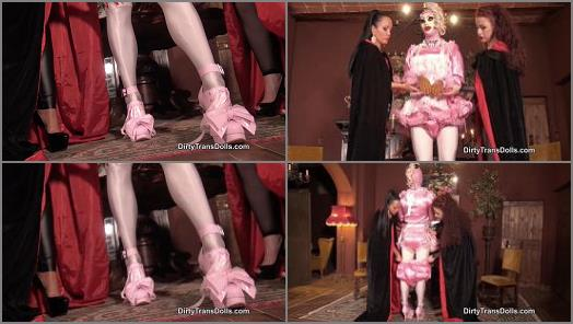 Dirty Trans Dolls  Prissy sissy inspection   Fetish Liza and Rubber Doll Jenna  preview