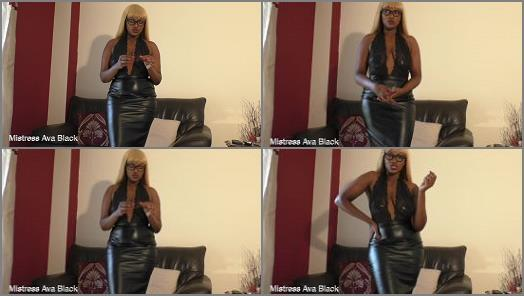 MISTRESS AVA BLACK  One month lockup  preview