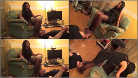 Nylon – ADRIANNA – 'Stockings Fiesta' – EXTREME Footsmother and Breath Control Under Stockings