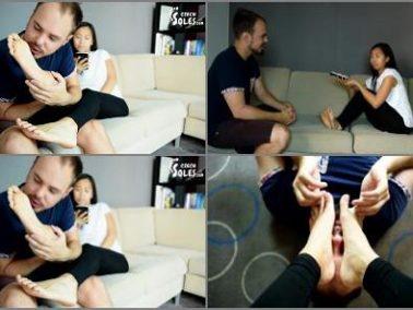 Asian -  Czech Soles – Foot worship during Vietnamese language lesson
