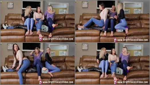 Brat Princess 2  BP  Three Brat Girls share a Human Couch  preview