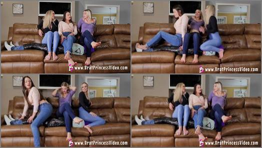 Brat Princess 2  BP  Three Brat Girls share a Human Couch  preview