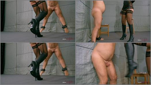 CRUEL PUNISHMENTS  SEVERE FEMDOM  Kicked shocked burned part1   Mistress Anette  preview