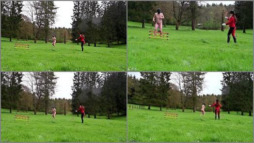 Ball Abuse –   Mistress Lady Renee – Ball stretching pony jumping