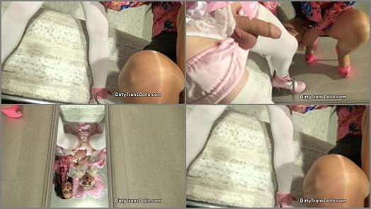 Dirty Trans Dolls  Sissy enforced orgasm and cumeating   Fetish Liza  preview