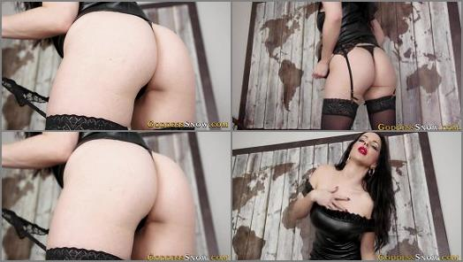 Goddess Alexandra Snow  Conquered by Little Leather Panties  preview