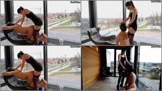 Evil Kitties  Hotel balcony public femdom pegging and chastised man slut humiliation EvilKitties  preview