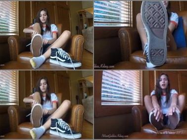 Foot humiliation - Goddess Kelsey - Pathetic for Goddess Sneakers