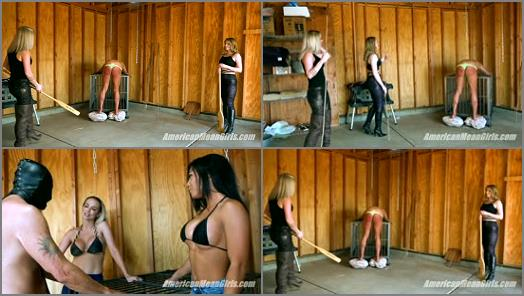 THE MEAN GIRLS CLUB  Slave On The Rocks Full Clip   Goddess Platinum Princess Amber and Goddess Tina  preview