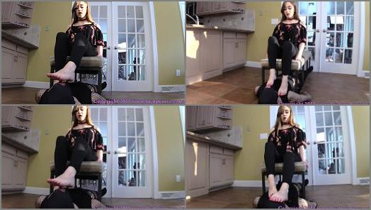 Brat Princess 2  Veronica  Pretty 19 Year Olds Toes Worshipped by Under Bench Gimp  preview