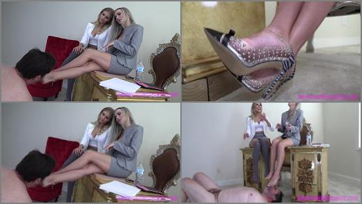 Foot Domination –  THE MEAN GIRLS CLUB – The Tax Loser –  Princess Amber and Goddess Platinum