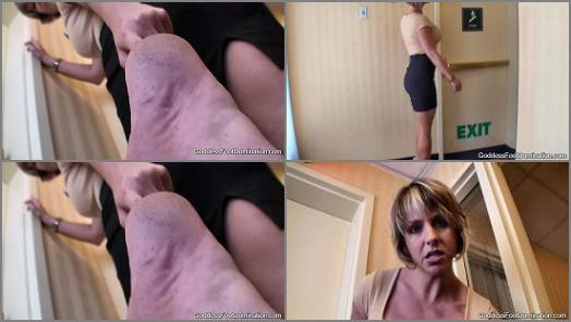 Dirty soles – Goddess Brianna – Hotel Stairwell Barefoot Inspection POV