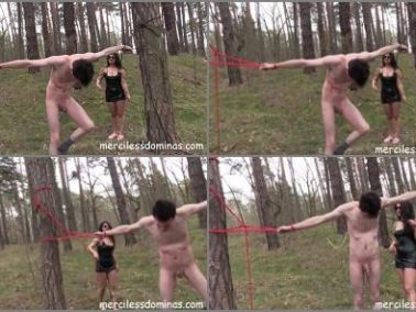 Corporal Punishment - Merciless Dominas – Whipping in the Wood -  Mistress Mia