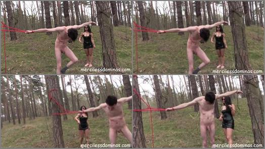 Merciless Dominas  Whipping in the Wood   Mistress Mia  preview