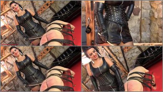 Mistress Ezada Sinn  Disciplined by Mistress Ezadas cane  preview