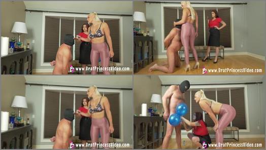 Brat Princess 2  Macy and Raquel  Edging Goon Wins Blue Ball Balloons  preview