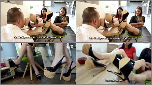 Mistress – Czech Soles – Two sexy employees getting their foot promotion –  Lexi and Megan