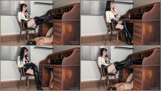Young Goddess Kim  Boot slave in Chastity  preview