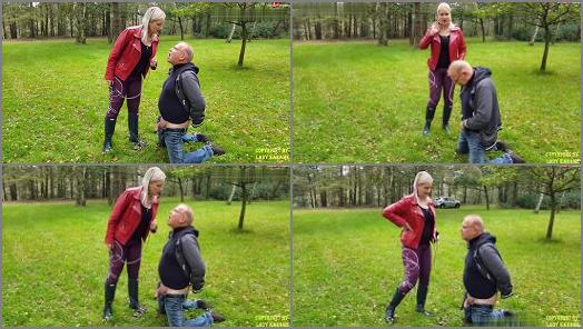Lady Karame  Ballbusting With Sexy Hunter Boots  preview