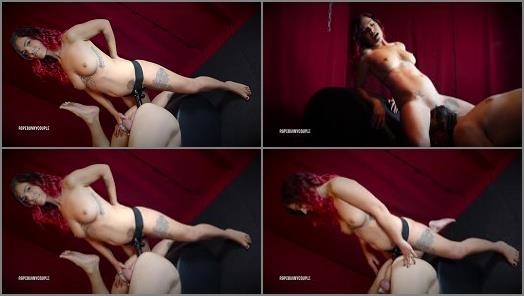 Rope Bunny Couple  Chastity Slave Worships Pussy Gets Pegged  preview
