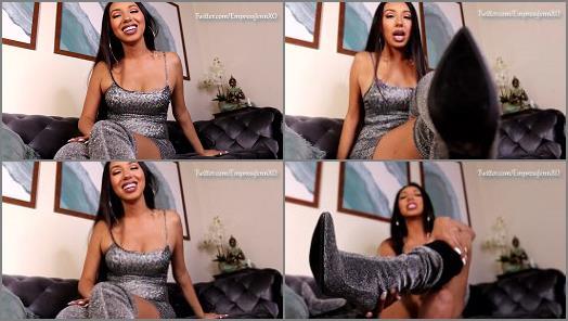 Empress Jennifer long boots domination to you