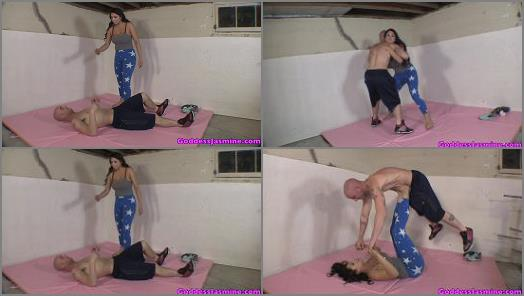 Humiliation – The Laughing Latina – Beat By A Girl at the Gym –  Jasmine Mendez