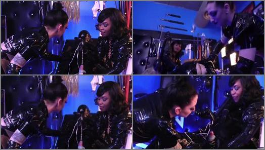 Cybill Troy and Ariana Chevalier starring in video INVASIVE RUBBER CLINIC PT 1 Forced Electro Cum of Cybill Troy FemDom AntiSex League studio preview