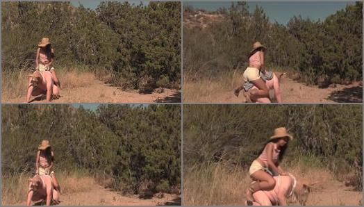 EMPRESS JENNIFER starring in video Bull Bullied By Jennifer Part 3 Forced Rodeo Abuse preview