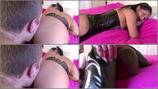 Miss Jasmine starring in video Come out jimmy and lick My Cum filled Holes of Club Stiletto FemDom studio preview