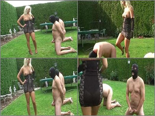 Masturbation – Mistress Kelly Kalashnik starring in video 'Wanking contest turns sour' of 'WOMEN OVER men' studio