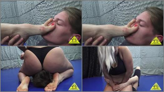 Amrita dominates Potter of Antschas wrestling and fetish store studio preview
